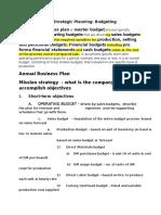 CPA BEC -  Budgeting