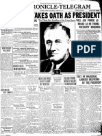 Chronicle-Telegram front page, March 4, 1933