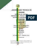 """Proyecto de Estructuras """"ANÁLISIS DE DEFORMACIONES ELÁSTICAS DE ESTRUCTURAS"""""""