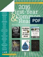 Random House First-Year & Common Reading Catalog 2016