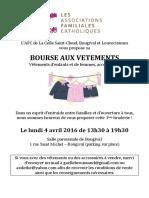 Flyer Bourse Aux Vêtements