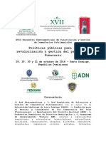 Convocatoria Oficial XVII Encuentro Iberoamericano de Cementerios Patrimoniales - Santo Domingo 2016