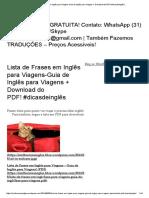 Lista de Frases em Inglês para Viagens-Guia de Inglês para Viagens + Download do PDF! #dicasdeinglês _