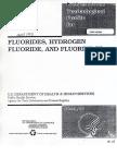 Toxicological Profile for Fluoride