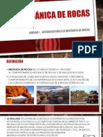 Exposicion Unidad I mecanica de rocas