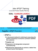 Supplier APQP Training