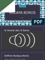 Budaya Boros