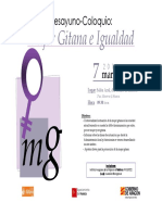 "Desayuno-coloquio ""Mujer gitana e igualdad"" (7-3-2016)"