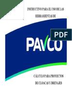 CÁLCULO PARA PROYECTOS DE CLOACAS Y DRENAJES