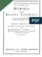 B. LLORCA - G. VILLOSLADA, Historia de La Igleisa Católica, Vol. 1 (Edad Antigua)