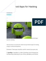 Top Android Apps for Hacking