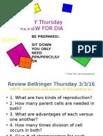 genetics powerpoint review wednesday