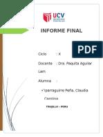 Informe Final de Todo El Ciclo IV