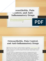 Osteoarthritis, Pain Control, and Anti-Inflammatory Drugs