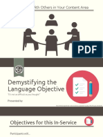 Writing an Effective Language Objective