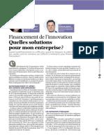 2014 06 Financement de Linnovation Finance Et Gestion Florence Lafargue Gilles de Courcel