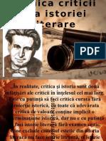 Tehnica Criticii Și a Istoriei Literare