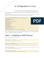 DHCP Server Configuration in Linux