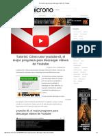 El Mejor Programa Para Descargar Vídeos de Youtube