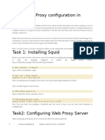 Squid Web Proxy Configuration in Linux