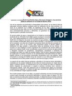 DENGUE - La Evidencia de La Profunda Crisis y Del Acceso Desigual a Los Servicios Públicos Sanitarios en La Ciudad de Buenos Aires