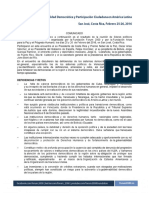 Comunicado_Gobernabilidad Democrática en América Latina