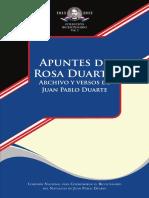 Apuntes de Rosa Duarte