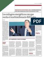 Los milagros energéticos con que sueña el multimillonario Bill Gates