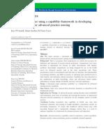 Capability Framework for Developing Practice Standards of APNs
