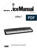 Repair Your Casio CPS7 Piano and MIDI keyboard