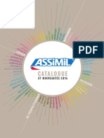 Catalogue Assimil 2016