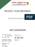 Topic 1 - Fluid Characteristic
