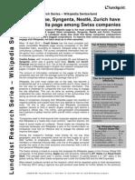 Lundquist Wikipedia Switzerland Research Executive Summary