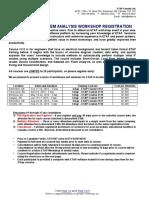 2016 ETAP Workshop Registration Form