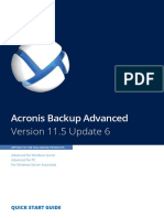 AcronisBackupAdvanced 11.5 Quickstart en-US