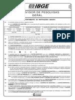 Prova 4 - Supervisor de Pesquisas Geral