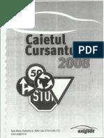 Caietul Cursantului 2008 scoala auto