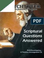 Witchtower: August 1, 2010 -  Disfellowshipping –  A Timeless Arrangement