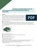 Tarjeta Cisco NM HDA 4FXS