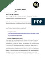 4ª Avance Quincenal de Gestión del CF EE.GG.CC. 2016 - FEBRERO