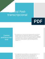 Control Post-transcripcional