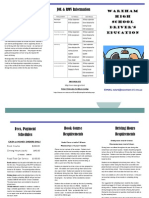 Driver's Education Trifold