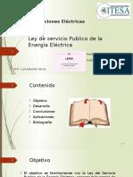Ley de Servicio Publico de La Energía Eléctrica