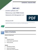 Goldman's ABACUS Sales Document