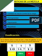 Caracteristicas de La Mezcla