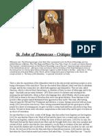 Critique of Islam -St. John of Damascus