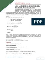 Simulación de La Oxidación Catalítica Del Propileno en Un Reactor Pbr