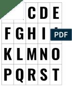 Letter Tiles Pattern