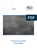 Formula Book - Cement Industries