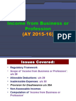 9_Income From Business or Profession_AY 2015-16